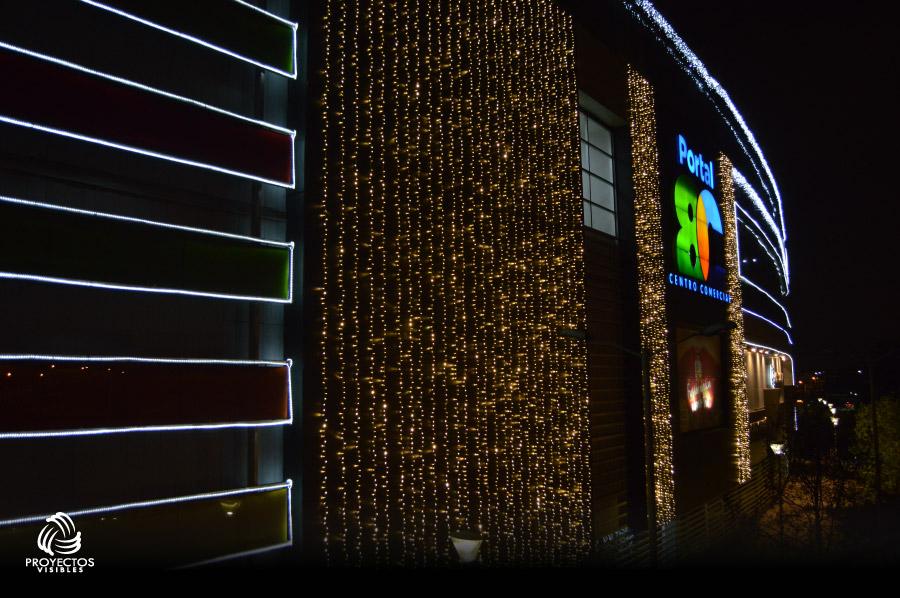 fachada navidad 2016 centro comercial portal 80