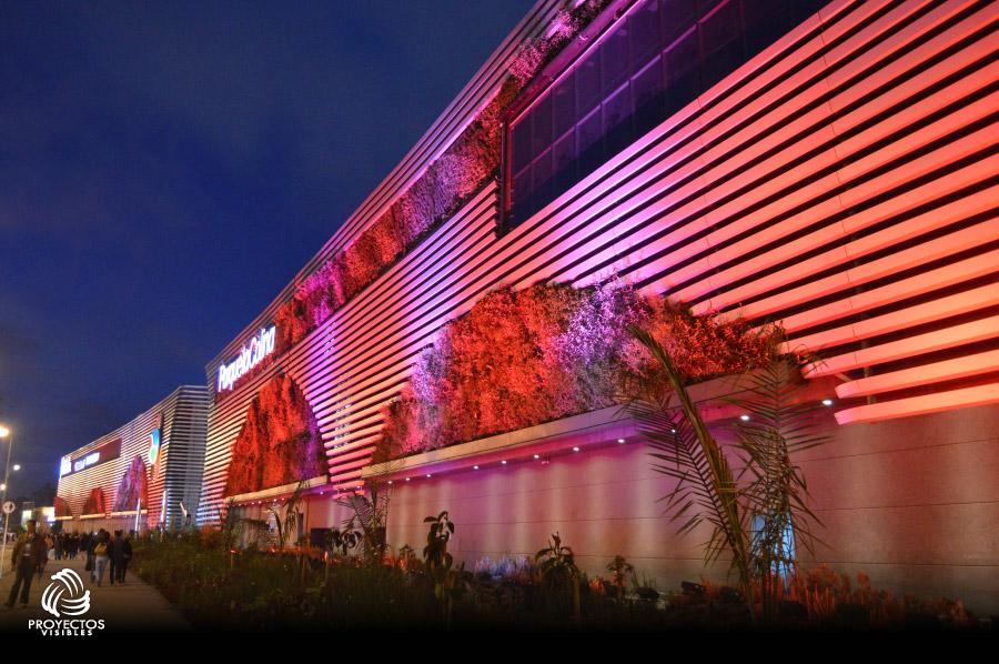 Iluminación LED Arquitectónica Centros comerciales fachadas