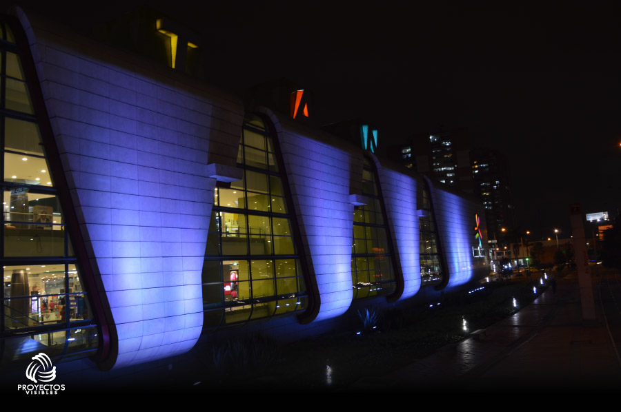 Iluminación LED Arquitectónica Centros comerciales