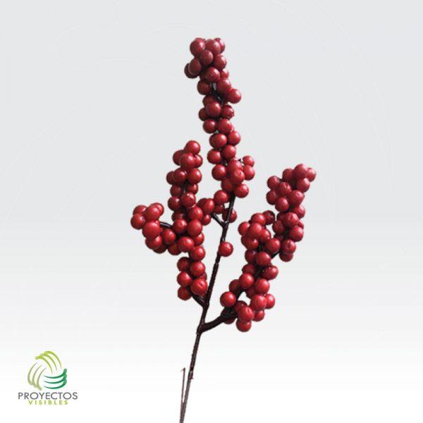 Adorno DecoBerri JH081 racimo de cerezas rojas para navidad