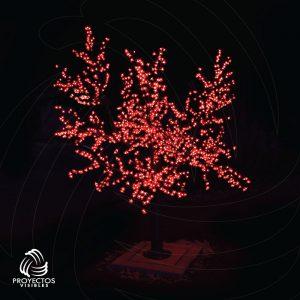árbol led cherry rojo para navidad