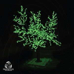 Árbol LED Cherry verde para navidad