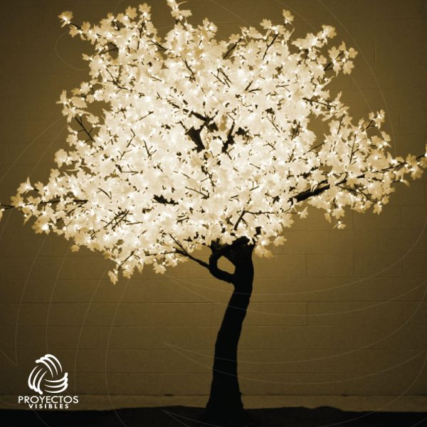 Árbol LED Maple Blanco Cálido para navidad