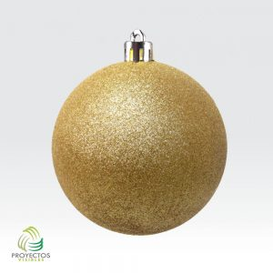 Bolas doradas escarchadas de navidad para decoración, Bogotá