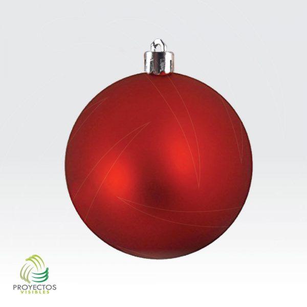 Bolas rojas mate de navidad para decoración, Bogotá