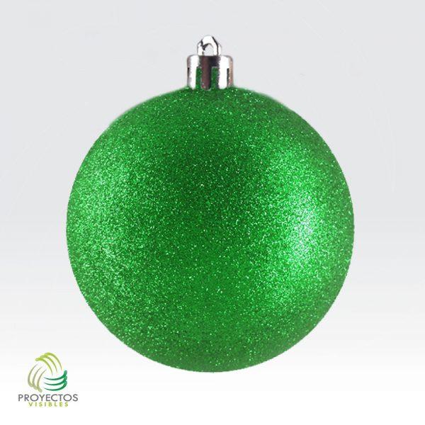 Bolas verdes escarchadas de navidad para decoración, Bogotá