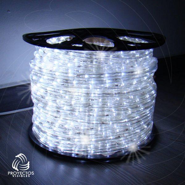 Manquera LED blanco frío con flash