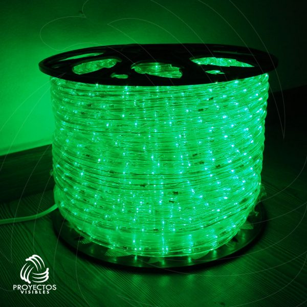 Manquera LED verde para navidad
