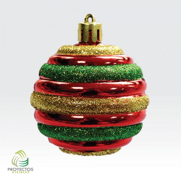 Esfera dorada verde rojo de navidad para decoración, Bogotá