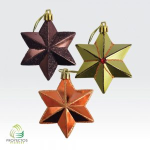 Estrellas 3 colores de navidad para decoración, Bogotá