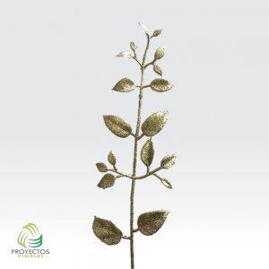 Adorno DecoHoja Gold ramita de hojas doradas