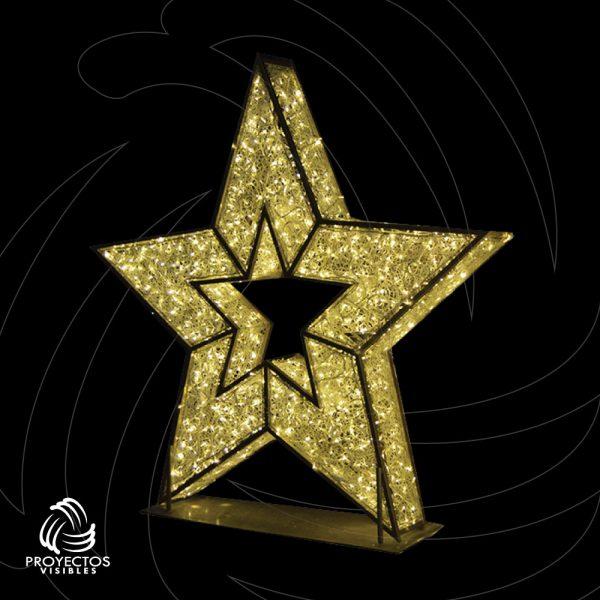 Estrella Led PVNet 5p 3d para navidad