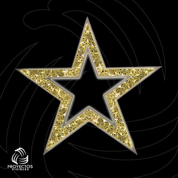 Estrella Led PVNet calada 5p 2d para navidad