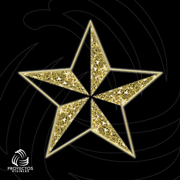 Estrella Led penta para navidad