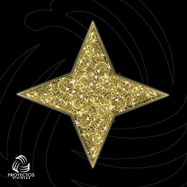 Estrella Led Tessera 4p 2d para navidad